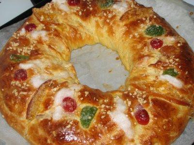 Roscón de Reyes sin levado para celiacos