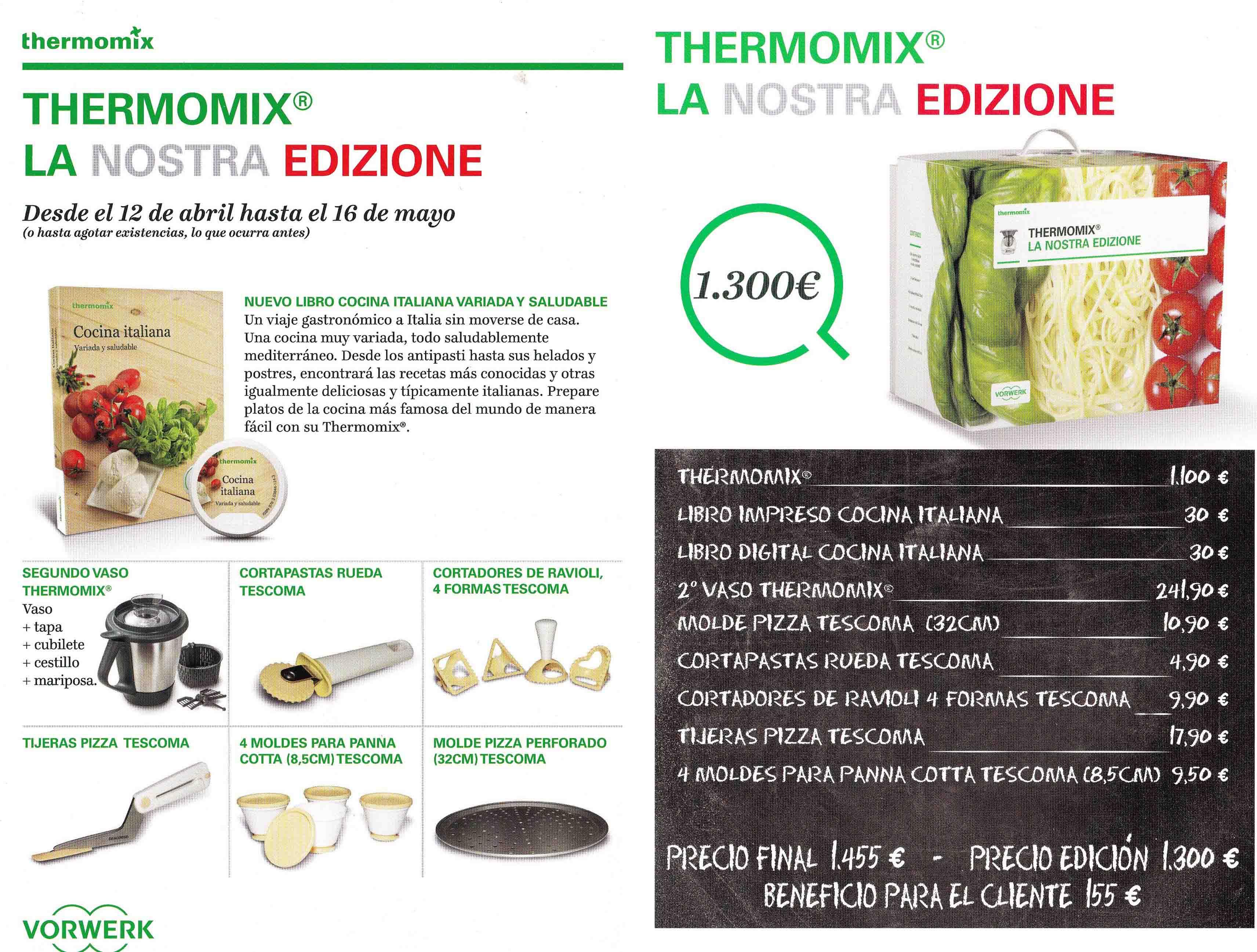 ¡NUEVA EDICIÓN Thermomix® : LA NOSTRA EDIZIONE!