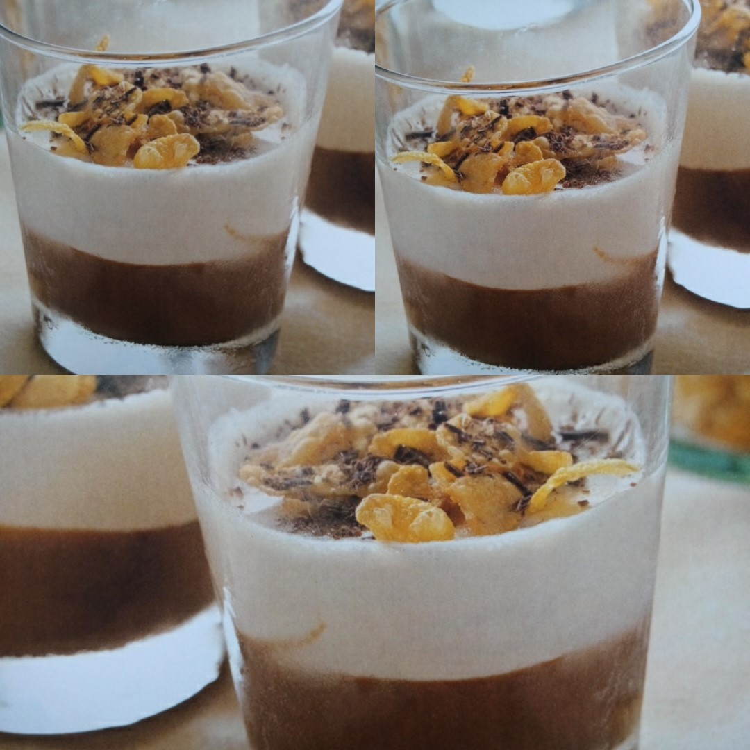 Panna cotta de chocolate y crema de whisky