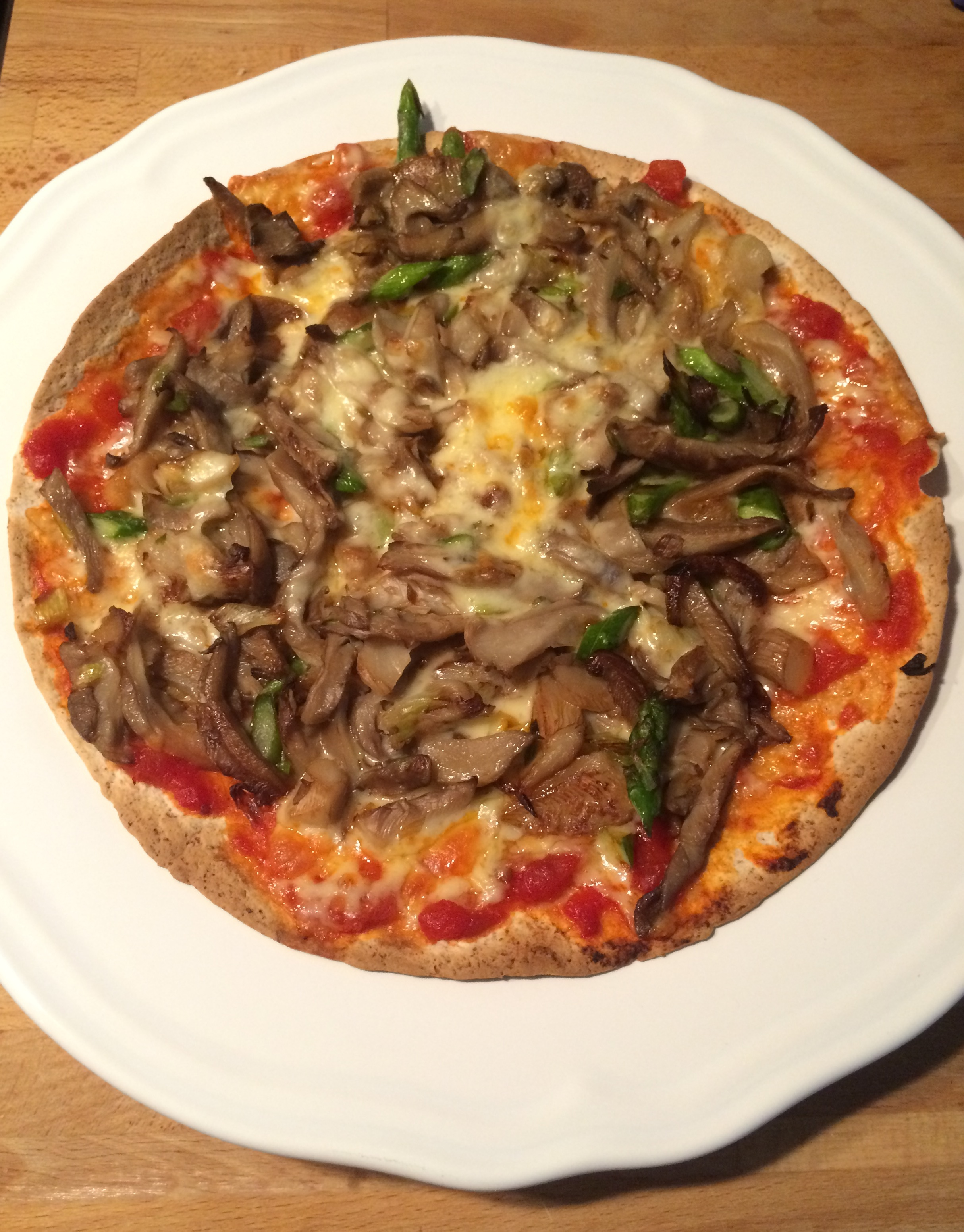 Pizza de setas y trigueros (Vegetariano)