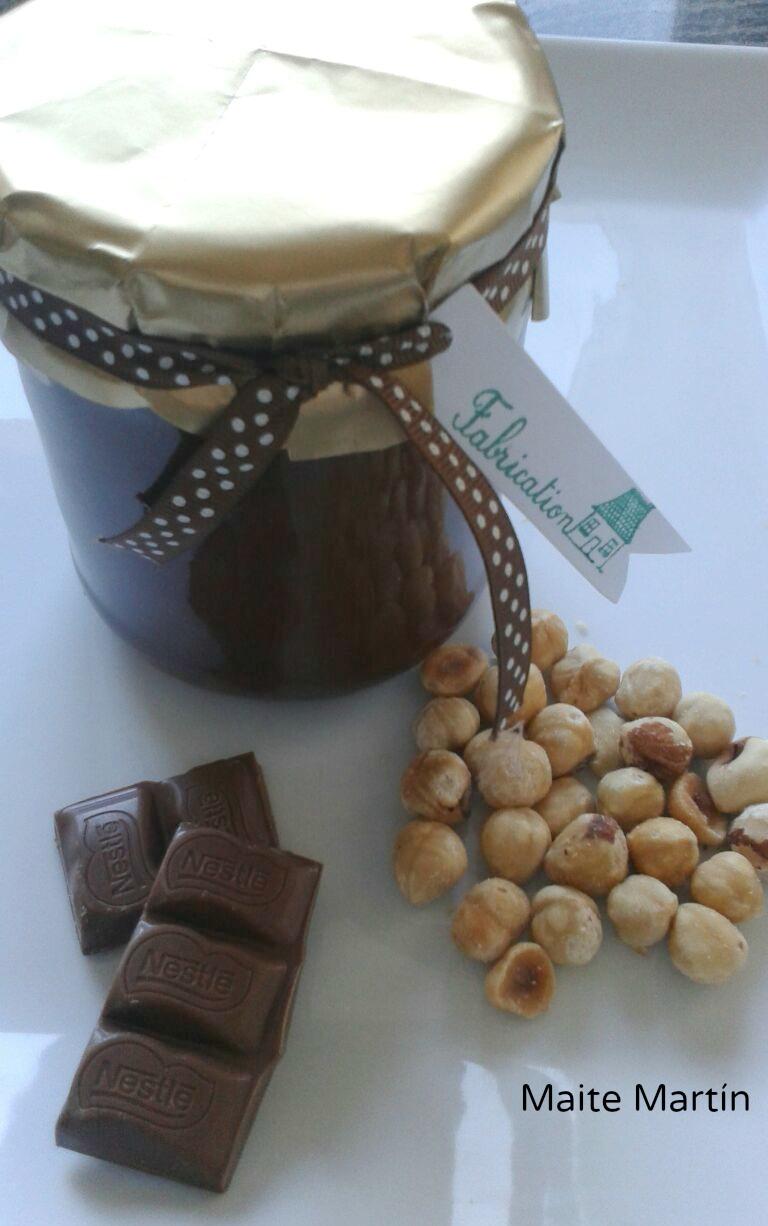 Crema de leche,cacao,avellanas y azúcar
