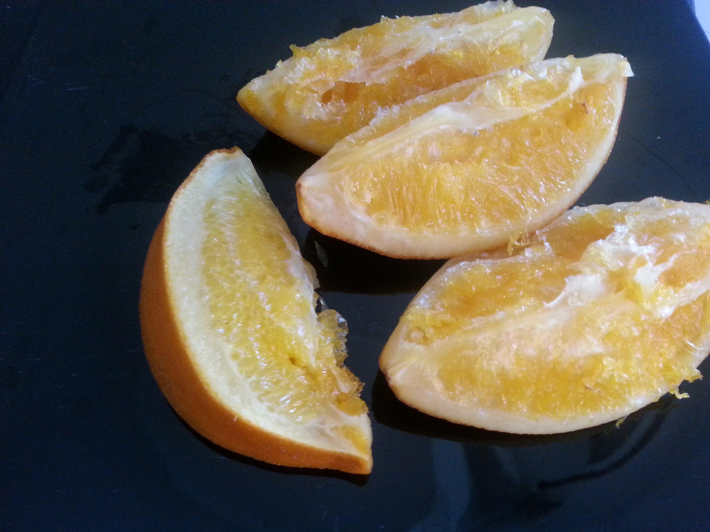 Naranjas Confitadas y Escarchadas