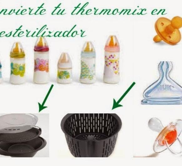 ESTERILIZAR BIBERONES Y CHUPETES EN Thermomix®