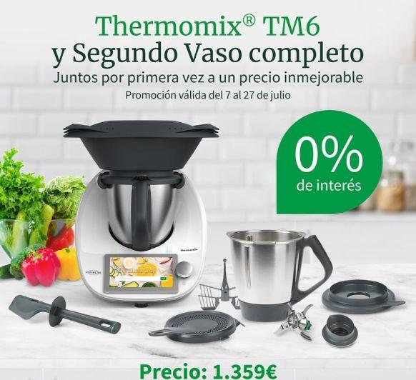 AMPLIACIÓN HASTA EL 10 DE AGOSTO DE LA PROMO Thermomix® SIN INTERESES + SEGUNDO VASO.