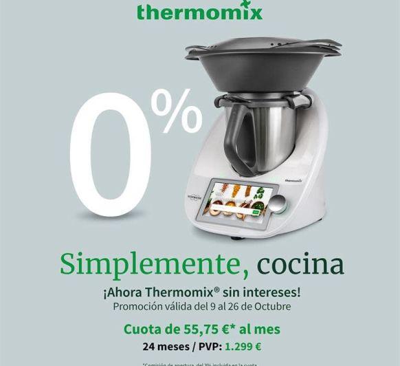 Thermomix® TM6 AL 0% DE INTERÉS. AMPLIAMOS HASTA EL 11 DE NOVIEMBRE