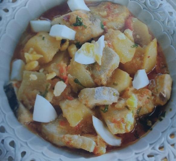 Guiso de pez espada con patatas